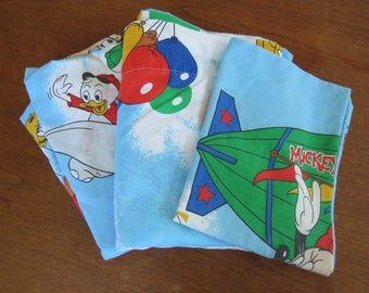 Vintage Childrens Sheet - Disney Mickey Mouse and Friends - Single or Twin Vintage Sheet