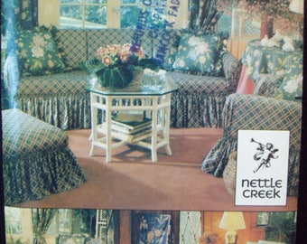 Wrap and Tie Furniture Covers Nettle Creek Butterick Crafts Pattern 3093 Chair, Sofa, Ottoman Covers
