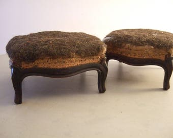 french foot stools for a matching pair antique foot stools