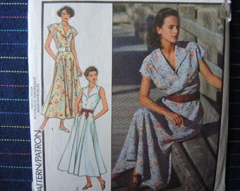 vintage 1990s Style sewing pattern 1542 misses dress UNCUT size 8-14