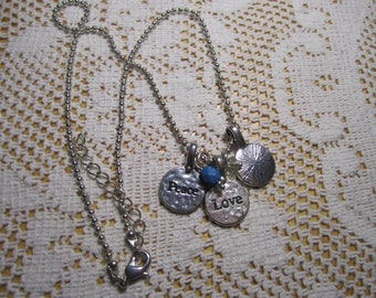 Peace love dream charm necklace
