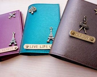Passport covers, Passport case, Personalized wedding gift, Personalise anniversary gift, Passport wallet, Passport cover case