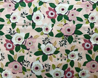 FABRIC- Blush Fall Floral by the Yard-Quilt Fabric-Apparel Fabric-Home Decor Fabric-Fat Quarter-Craft Fabric-Fat Quarters