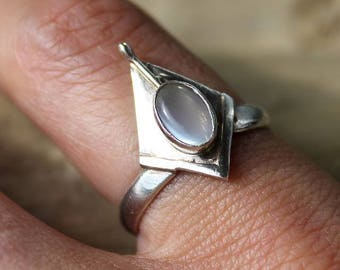 Ethnic Moonstone and 925 sterling silver ring