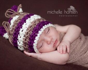 Newborn Photo Prop//Crochet Hat//Newborn Hat//Crochet Baby Hat//Newborn Beanie//Little Kitty Hat//Animal Hat//Newborn Prop//Baby Baby Gift