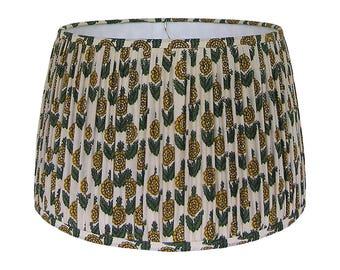 Indian lamp shade etsy gathered lamp shade yellow lampshade indian block print lamp shade floral lampshades aloadofball Choice Image