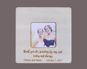 IN LAWS WEDDING Gift-Bride Gift to Mother-in-Law-Personalized Wedding Picture Frame- Bride Wedding Gift-Father-in-Law Gift-8x8 Overall Size