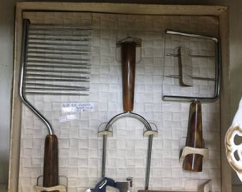 Vintage Kitchen or Bar Set with Bakelite handles