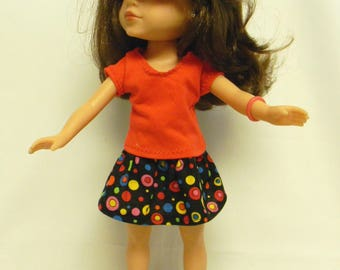Wellie Wishers Like Skirt Outfit For 14.5 Inch Doll