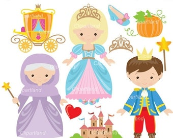 ON SALE INSTANT Download.  Cinderella clip art. Ccind_14. Personal and commercial use.