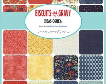 NEW - Biscuts & Gravy Charm Pack by Basic Grey for Moda