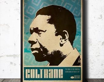 John Coltrane Jazz Art Poster