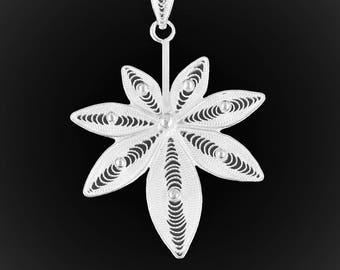 Zen Baby Zen pendant in silver embroidery