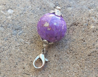 Custom Keepsake / Memorial Charm made from your Flower Petals or Pet fur or Cremains - ROUND Charm