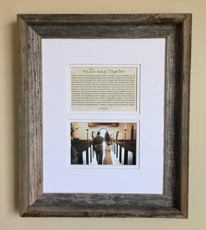 Cadre de mariage cadre photo de mariage cadeau - Cadre photo mariage personnalise ...