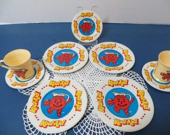 Vintage KOOL AID Childs Tea Set