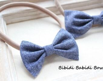 Headbands- Baby Nylon Headbands- Hair Bows- Cotton Bow Headbands- Baby Girl Headbands- Newborn Headbands- Big sister Little sister Hair Bows