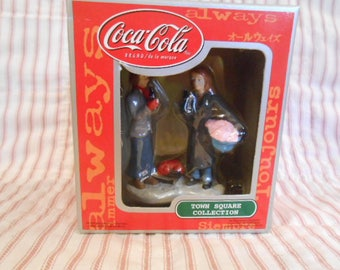 Town Square Collection-Coca Cola-Lady With Laundry Basket-Sealed