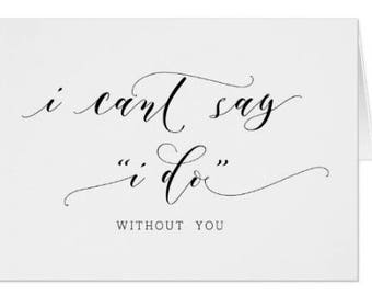 "I Cant Say ""I Do"" (without you)"