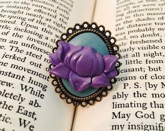 Purple Lotus Filigree Ring