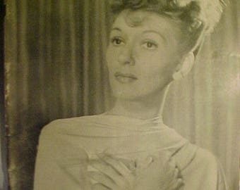 October 25, 1943 LIFE Magazine with Mary Martin on the Cover has 132 pages of ads and articles, Great Birthday Gift Idea No.2