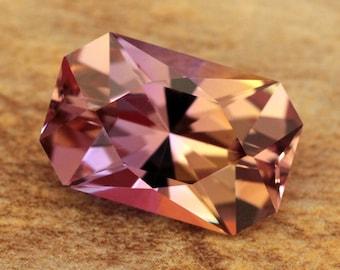 7.44 Carat Bolivian Ametrine Gemstone Precision Cut Gem