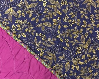 Rifle Paper Co. Metallic Swoop Whole Cloth Baby Quilt