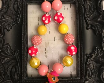 My Little Pony chunky bubblegum necklace set
