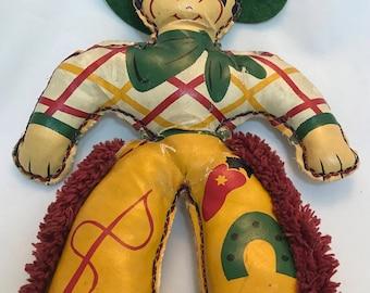 1930's Cowboy Doll - Excellent Vintage Condition