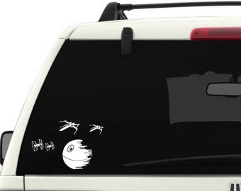 Star Wars Death Star, TIE fighters, and X-Wings Decal