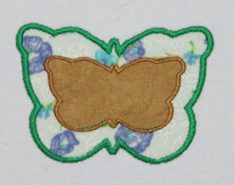 Butterfly Applique Digitized Machine Embroidery Design  Flying Insects Bugs