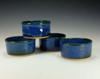 Salsa / Guacamole cup.  Dessert bowl.  Cobalt blue. Ready to ship.