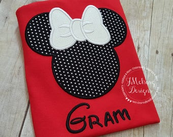 Girl Mouse Custom embroidered Disney Inspired Vacation Shirts for the Family! 886b