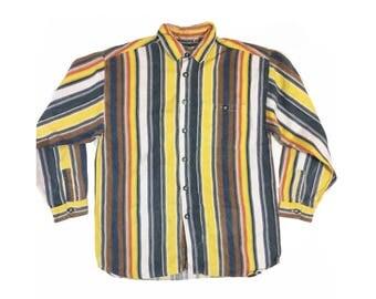 Vintage 90s Corduroy Shirt Striped