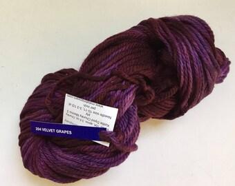 40% Off Malabrigo Chunky Merino Wool Yarn Velvet Grapes 100 grams 104 yards