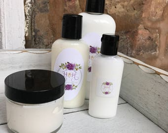 All Natural Organic Shea Butter  or Avocado Oil Lotion