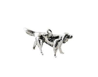 Sterling Silver Irish Setter Dog Charm For Bracelets