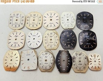 ON SALE Small Watch Faces - set of 16 - c133
