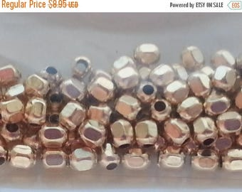 SAVE 20% 100 pieces 14k Gold Filled 2mm Faceted Round Beads MADE IN Usa