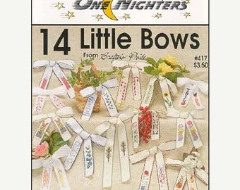 25% OFF SALE One Nighters 14 Little Bows Counted Cross Stitch Pattern