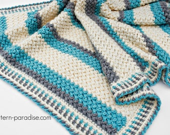 Crochet Pattern Baby Blanket Afghan Throw Pillow Soft PDF 16-258