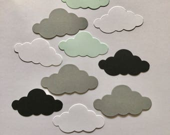 "Die cut Clouds in White 2"" x 1"" or 2.25"" x 1.125"" clouds  Cardstock Clouds Scrapbooking supplies, Party pick supplies,"