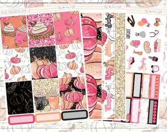 Pink Pumpkin Pie Weekly Planner Sticker Kit