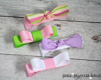 Light Luxuries: Just a Girl - Hair Clip, Baby Hair Clip, Hair Clip Set, Baby Hair Clip Set, Baby Hair Bow, Infant, Toddler, Girls, Gift Set