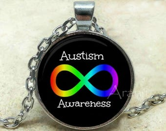 Autism awareness pendant, Autism spectrum pendant, Autism necklace, Neurodiversity pendant, Neurodiversity Pendant #PA152P