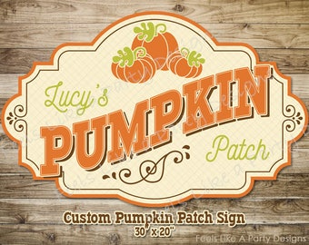 Custom Pumpkin Patch Sign