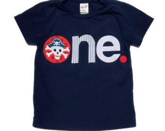 Pirate Birthday// One//First Birthday//Boy//Shirt//Birthday Shirt//Ready To Ship