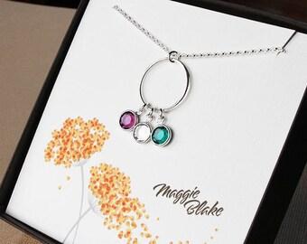 3 birthstone necklace three birthstone necklace 3 birthstone jewelry three birthstone jewelry