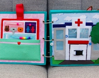 PATTERN & TUTORIAL 2 Quiet book pages Hospitalbook - Hospital and patient card