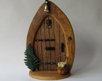 Large wooden fairy door, minatures for fairy gardens, tooth fairy door, oak fairy door, wood fairy door, faery, faeries, fairys